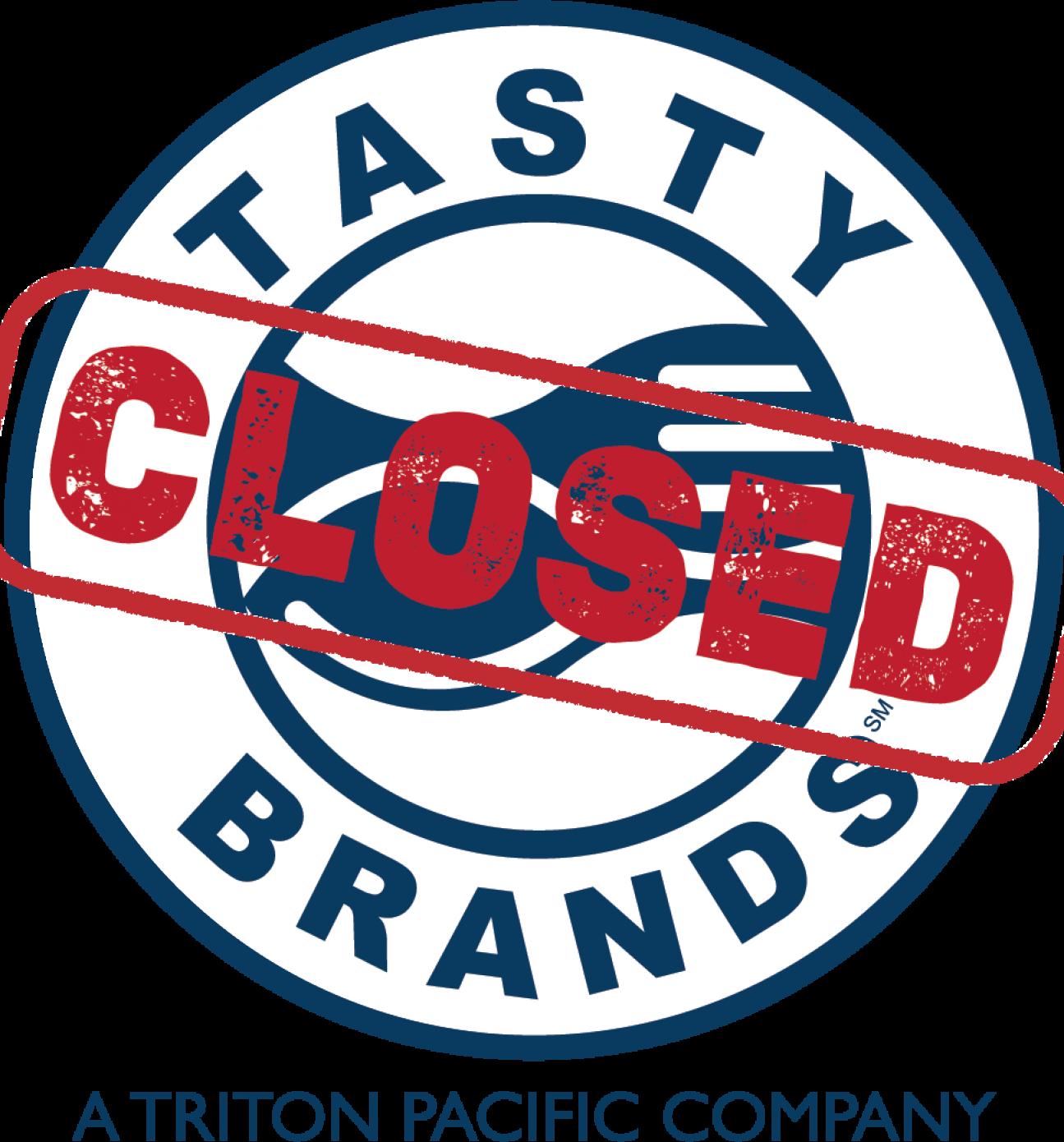 Tasty Brands logo Blue Outlie CLOSED